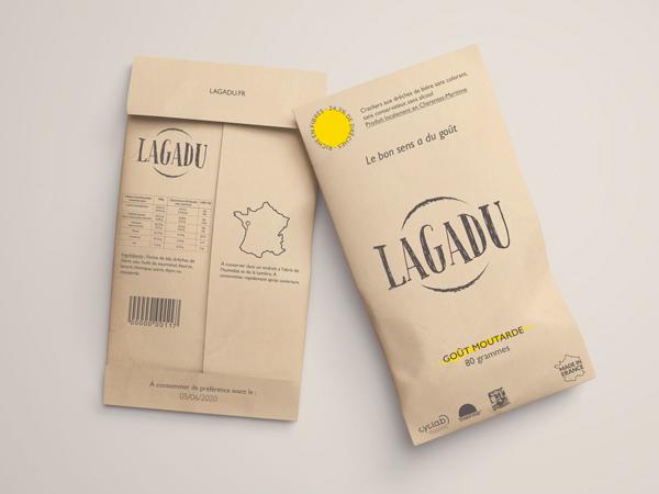 Site web pour la marque de crackers rochelaise Lagadu.